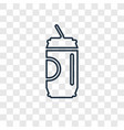 soda concept linear icon isolated on transparent vector image vector image