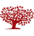 spring branchy tree with beautiful blosso vector image vector image