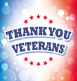 thank you veterans banner vector image vector image
