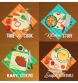 Vegetables Flat Icon Set vector image vector image