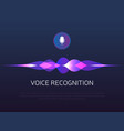 voice recognition sound waves and microphone vector image