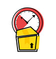 watch time with box vector image vector image