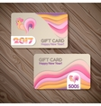 Year of rooster design for banner gift card vector image