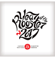 Year of the rooster greeting card vector image