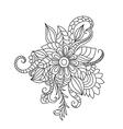 Zentangle floral pattern Hand drawn design element vector image vector image