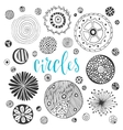 Collection of hand drawn circle textures Isolated vector image