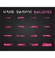Set of pink hand drawndoodle sketched grunge vector image