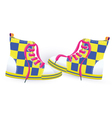 Two yellow sneakers vector image