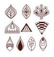 boho style mandala set icons vector image