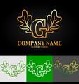 02 oak letter g vector image vector image