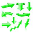 3d arrows green signs and symbols vector image vector image