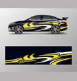 abstract sport racing car wrap decal and sticker vector image vector image