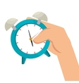 alarm watch time isolated icon vector image vector image