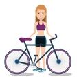 athlete fitness female avatar vector image