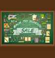 back to school sale banner on green vector image vector image