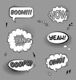 black and white set with comic speech bubbles vector image vector image