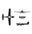 black silhouette airplane on white background vector image vector image