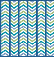 blue green striped chevron seamless pattern vector image vector image