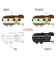 Caravan Trailers Isolated vector image vector image