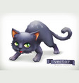 cat happy halloween 3d icon vector image vector image