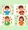 child immune system healthy and sick kids immune vector image