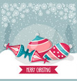 christmas card with balls christmas background vector image vector image