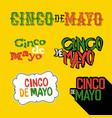 cinco de mayo badges holiday typography design vector image vector image