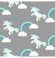 cute unicorn child seamless pattern vector image vector image