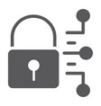 cyber security glyph icon protection and security vector image vector image