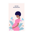 dreaming pregnant woman vector image