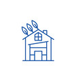 eco house line icon concept eco house flat vector image vector image