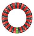 european roulette wheel vector image vector image