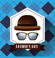 fathers day card celebration vector image vector image