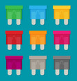 flat fuse icon set vector image