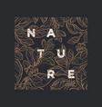 floral background nature art line plant vector image