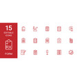 form icons vector image vector image