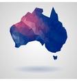 Geometric australia map vector image vector image