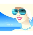 Girl wearing sunglasses vector image