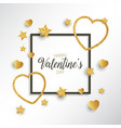 glittery heart valentines day background vector image vector image