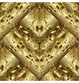 gold 3d textured abstract seamless pattern vector image vector image