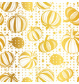 golden white pumpkins polka dots seamless vector image vector image