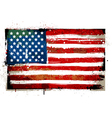 Grungy usa flag vector