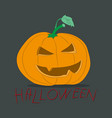 halloween pumpkin drawing color vector image vector image