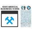 Hammers Calendar Page Icon With 1000 Medical vector image vector image