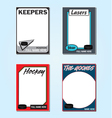 Hockey Cards vector image vector image