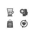 holidays shopping frappe and writer icons update vector image