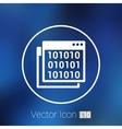 icon of code window program programming website vector image