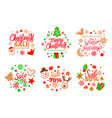 isolated cookie made of gingerbread pine presents vector image vector image