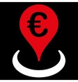 Location icon from BiColor Euro Banking Set vector image vector image