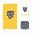 mask company logo app icon and splash page design vector image